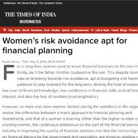 TOI – WOMEN'S RISK AVOIDANCE APT FOR FINANCIAL PLANNING